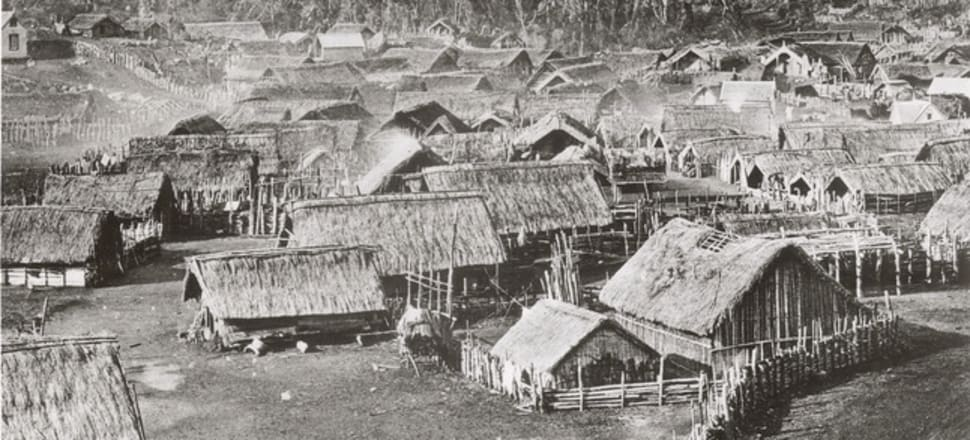 Parihaka village. Photo: National Archives