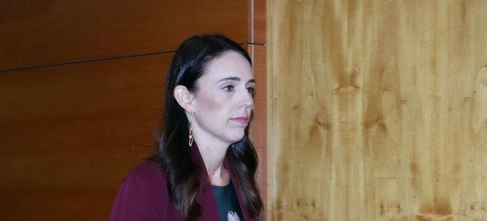 Prime Minister Jacinda Ardern walks to the Beehive Theatrette to announce the date for this year's general election. Photo: Lynn Grieveson.
