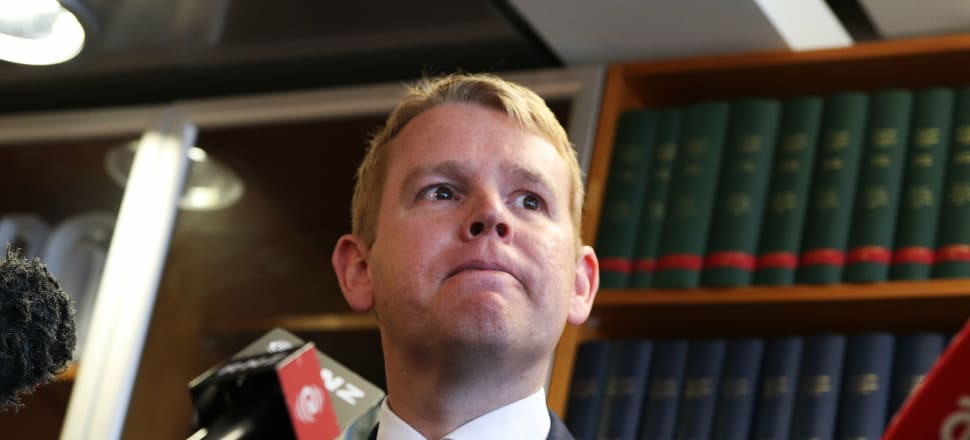 Education Minister Chris Hipkins sent a direct warning to early learning centres via a video recorded in his Beehive office. Photo: Lynn Grieveson
