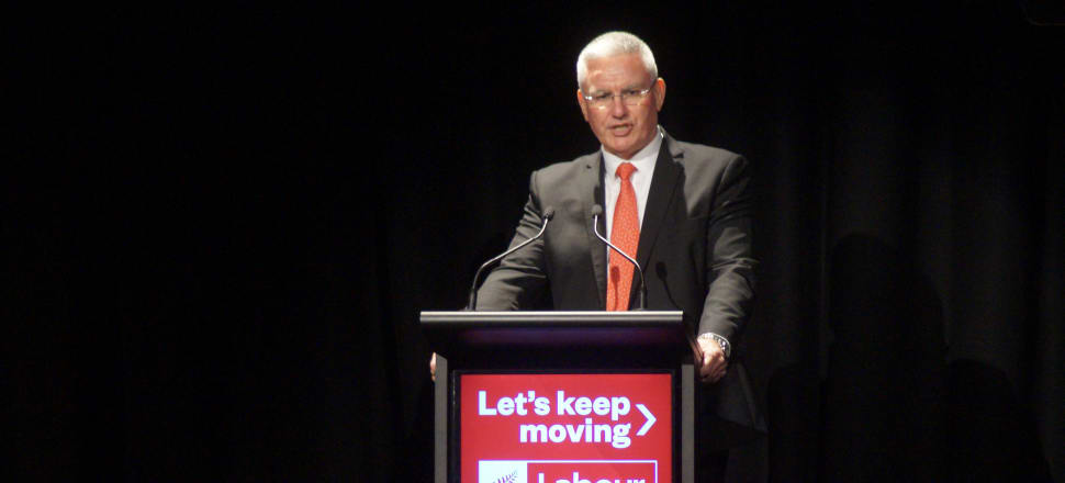 Labour's deputy leader Kelvin Davis delivered an impassioned speech about the sacrifices made by New Zealanders during Covid-19. Photo: Sam Sachdeva.