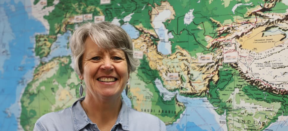 Gail Corbett has been deploying to conflict hotspots with the Red Cross for a decade. Recently, she was thrown a curveball when Covid hit, while she was in Afghanistan. Photo: Supplied