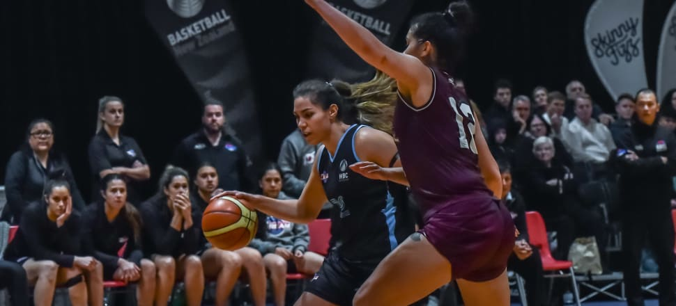 Tall Ferns captain Kalani Purcell helps power Auckland Dream to victory over Harbour Breeze in last year's Women's Basketball Championship - which now morphs into the women's NBL. Photo: Basketball NZ.
