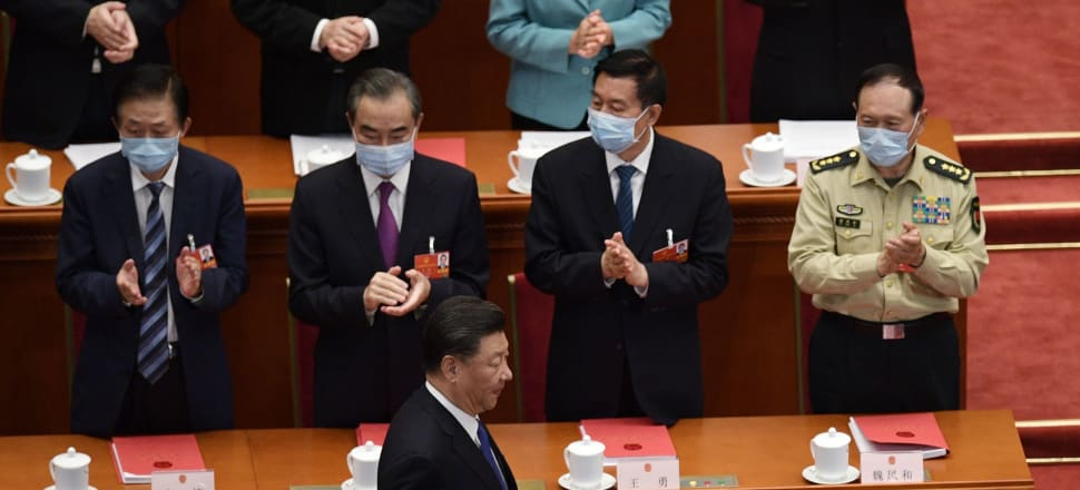 Chinese President Xi Jinping oversees the passing of new national security laws for Hong Kong. Photo: Getty Images.