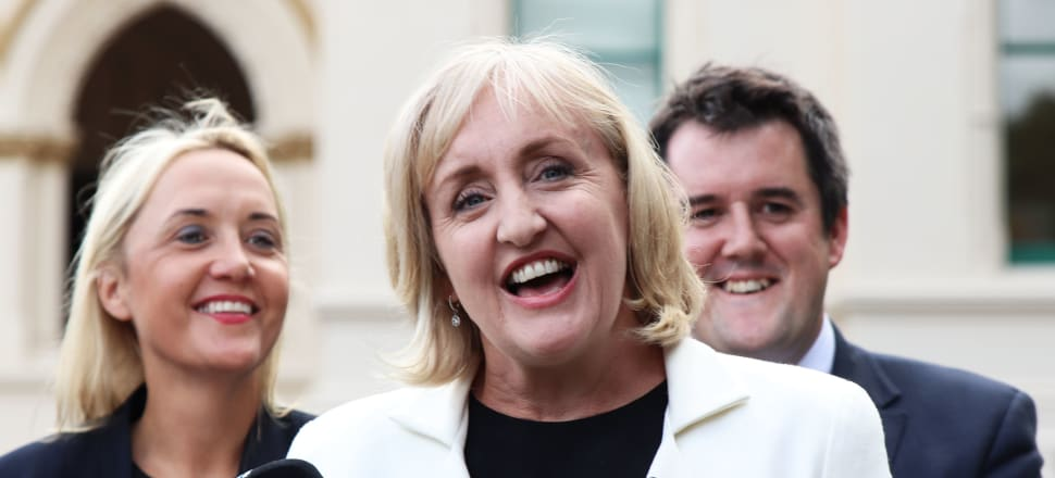 Close colleagues Nikki Kaye and Amy Adams have announced their dual departures from the National Party. Photo: Lynn Grieveson.