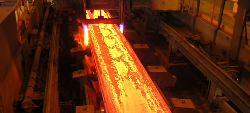 A steel slab being produced at Glenbrook in South Auckland. Photo: Supplied