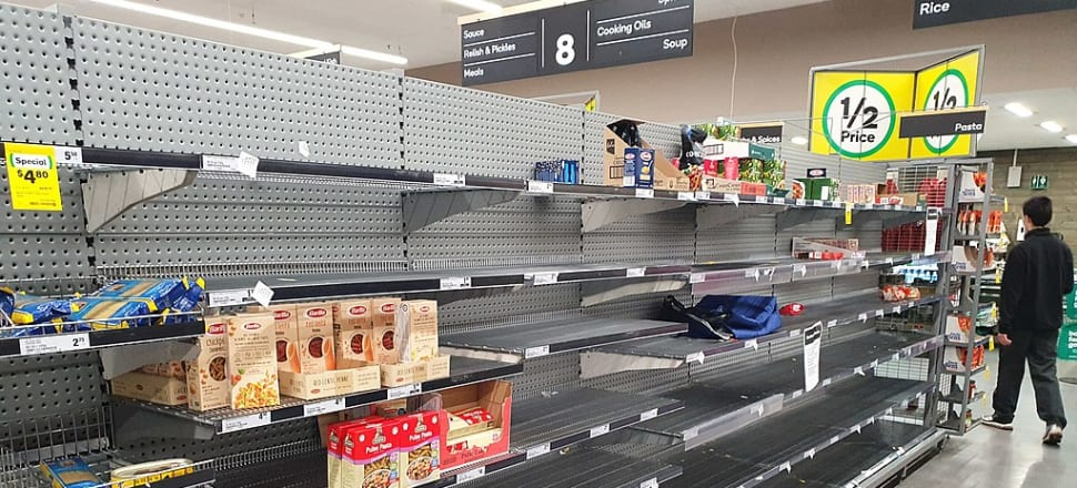 A Melbourne supermarket stripped of supplies. Photo: Christopher Corneschi, Wikicommons