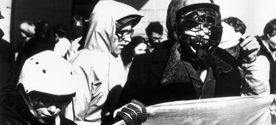 Kiwis protesting the 1981 Springbok tour. Photo: Getty Images