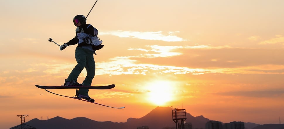 In a career-best, Kiwi freeskier Margaux Hackett finished fourth in last December's Big Air finals at the Beijing World Cup - the venue for the 2022 Winter Olympics. Photo: Getty Images.