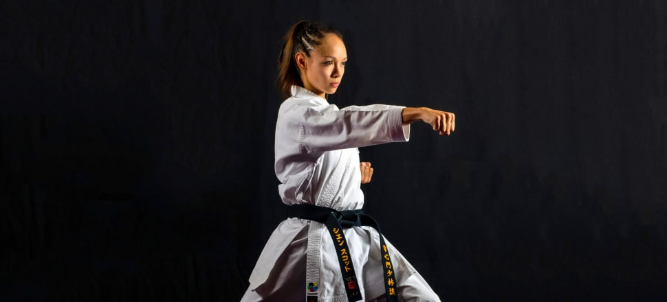 Sian Scott trained to become an officer in the British Army, but a back injury saw her return to NZ and reignite her passion for karate. Photo: Jae Mclennan Photography