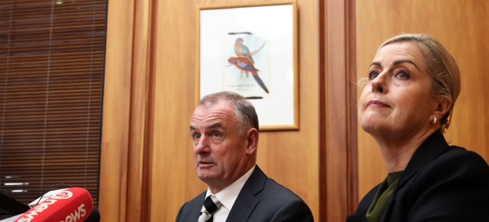 "The perennial ""bad boy"" of earlier years, Trevor Mallard (seen here with Parliamentary workplace inquiry head Debbie Francis)  now finds himself having to address the concerns raised first by the Francis Report, and more recently by the Walker and Falloon scandals, says Peter Dunne."