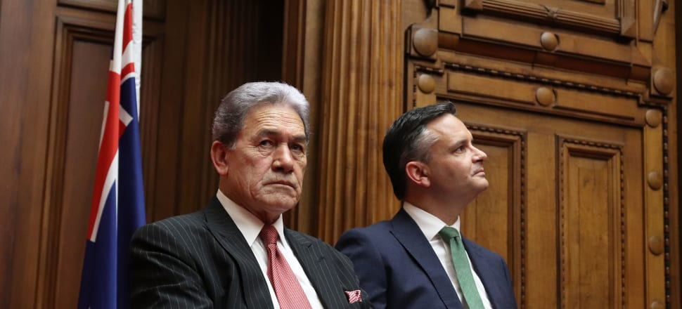 New Zealand First leader Winston Peters and Greens co-leader James Shaw have been uneasy bedfellows at the best of times, but with the election looming ever closer relations have deteriorated rapidly. Photo: Lynn Grieveson.