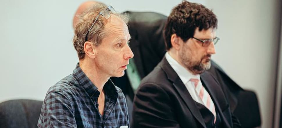 Nicky Hager at the Operation Burnham inquiry in September last year. Photo: RNZ /Dom Thomas