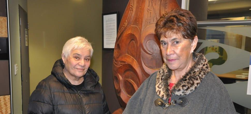 Prominent critics of Oranga Tamariki, Dame Tariana Turia and Merepeka Raukawa-Tait ahead of the Waitangi Tribunal hearing in Wellington. Photo Supplied