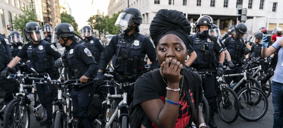 Thousands of protesters have taken to the streets in cities throughout the US to show anger after the death of George Floyd while in police custody in Minneapolis. Photo: Getty Images