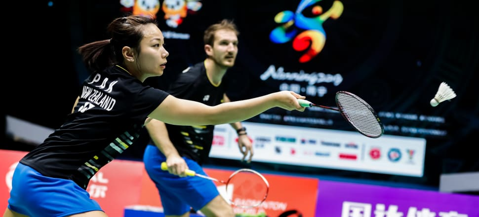 Olympic hopefuls Anona Pak and her mixed doubles partner Oliver Leydon-Davis playing at last year's world teams championship, the Sudirman Cup, where NZ finished 26th. Photo: BadmintonPhoto