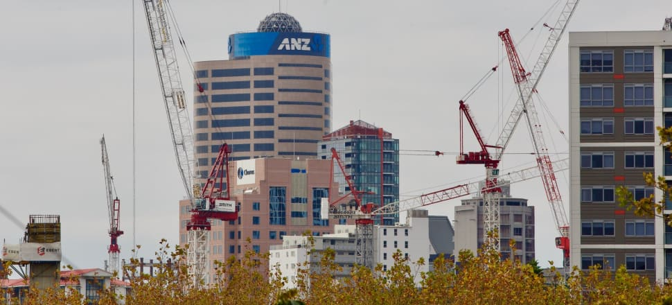 Auckland's pre-lockdown skyline of cranes. Photo: John Sefton