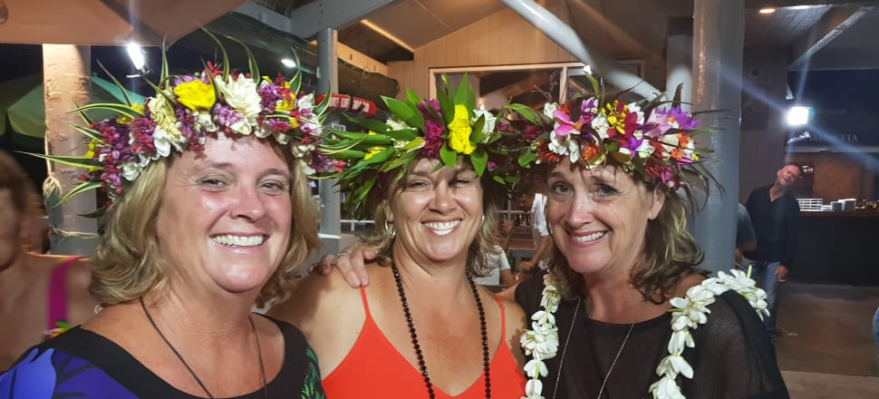 Sisters Sue Fletcher-Vea, Diane Fletcher and Karyn Vinsen all fell in love with Rarotonga as children, and returned to live in Cook Islands as adults. Photo: Supplied