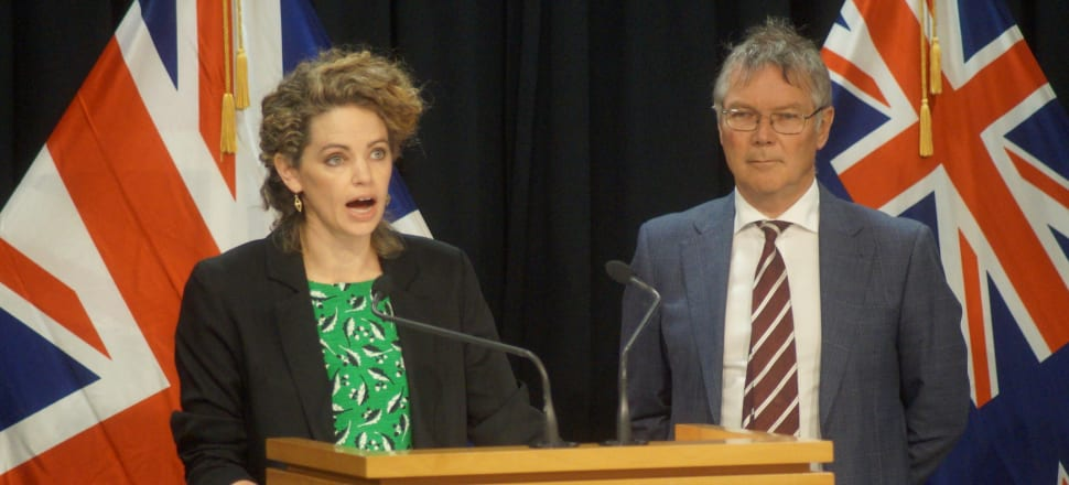 British High Commissioner Laura Clarke and Trade and Export Growth Minister David Parker were both glowing about the prospects for a high quality trade deal between the UK and New Zealand. Photo: Sam Sachdeva.