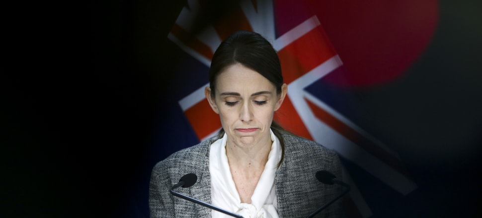 Jacinda Ardern's stony expression in outlining the Government's response to a high-profile Covid-19 breach was unsurprising given the stakes. Photo: Hagen Hopkins/Getty Images