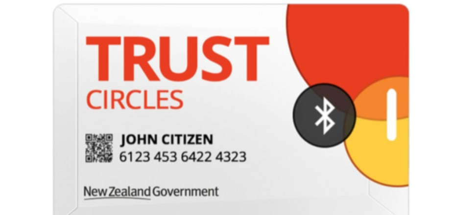 The Government is considering handing out a Bluetooth-enabled CovidCard to every New Zealander to aid with contact tracing efforts. Screenshot from CovidCard presentation.