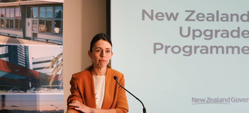 Jacinda Ardern announces the fast-tracking of consents for 11 shovel-ready projects. Photo: Lynn Grieveson