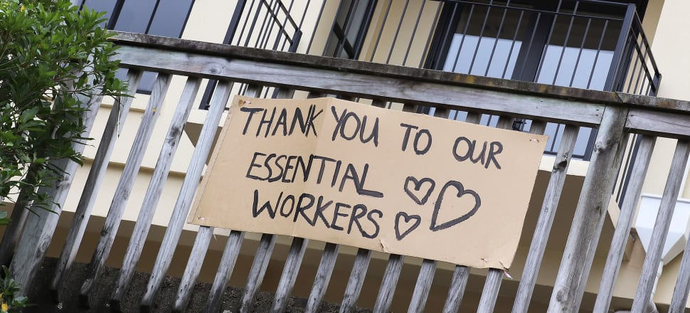 The public saluted essential workers during the lockdown. Photo: Lynn Grieveson