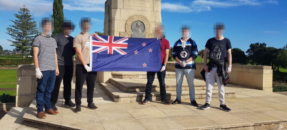 A former soldier and current Army reservist participated in far-right activities, including  at least one event hosted by the far-right group Action Zealandia. This photo was taken by James Fairburn, according to its metadata.
