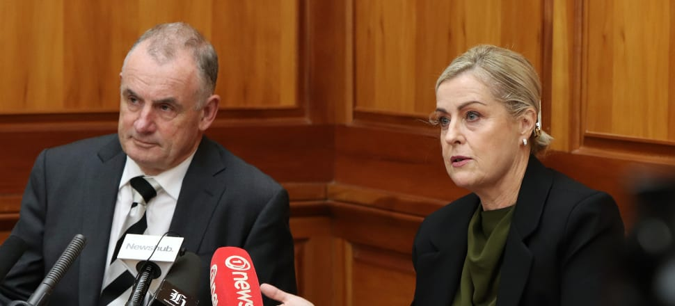 Speaker Trevor Mallard and Debbie Francis launched a review of the workplace culture in Parliament, in a bid to make it a safer and healthier place. A year on, it seems not much has changed in the debating chamber. Photo: Lynn Grieveson