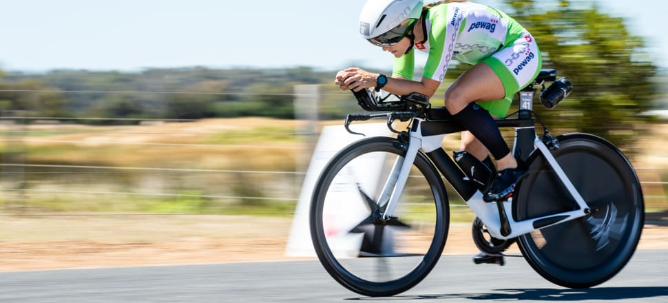 Teresa Adam has finished twice - in identical times - in Ironman NZ, but her quicker speeds on the bike may put her in a stronger position to finally win the title in Taupō. Photo: IRONMAN/Korupt Vision