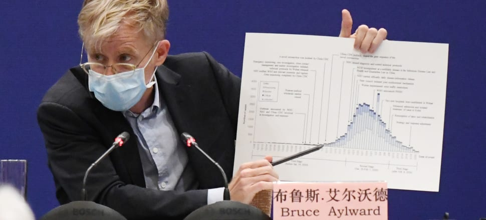 The World Health Organization's Dr Bruce Aylward described China's aggressive response to the virus as tailor-made and well-managed. Photo: Getty Images