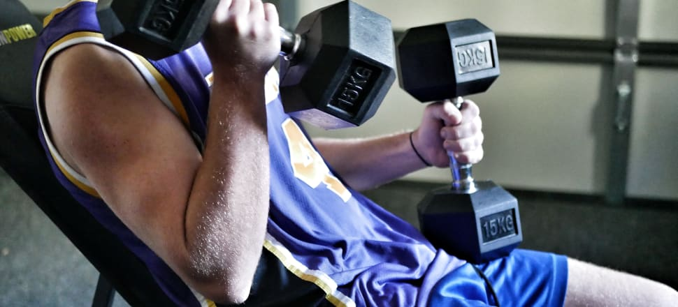 Dumbbells, weights and boxing bags were stripped from store shelves in the days leading up to New Zealand's Covid-19 lockdown. Photo: Suzanne McFadden.