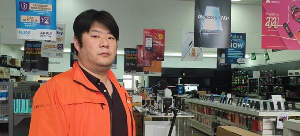 PB Tech store manager Donny Dong. Photo: RNZ / Robin Martin