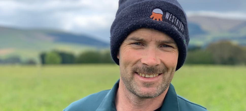 Mark Anderson on his South Otago regenerative farm.  Photo: Supplied