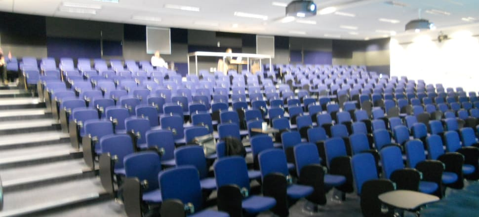Lecture theatres are empty but online learning and entrepreneurial ideas are thriving. Photo: Michael Coghlan/Flickr