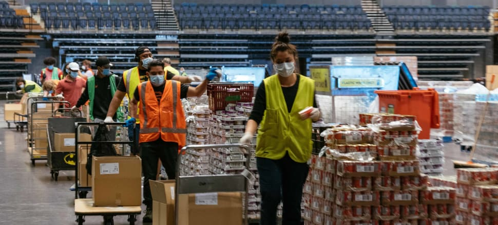Auckland Emergency Management has run a packing operation involving thousands of food parcels. Photo: Auckland Council