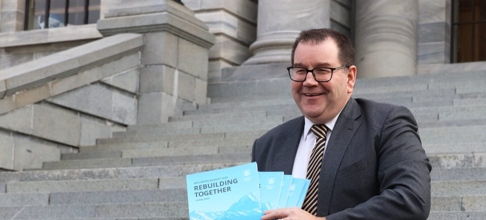 Finance Minister Grant Robertson with this year's Budget. Photo: Lynn Grieveson