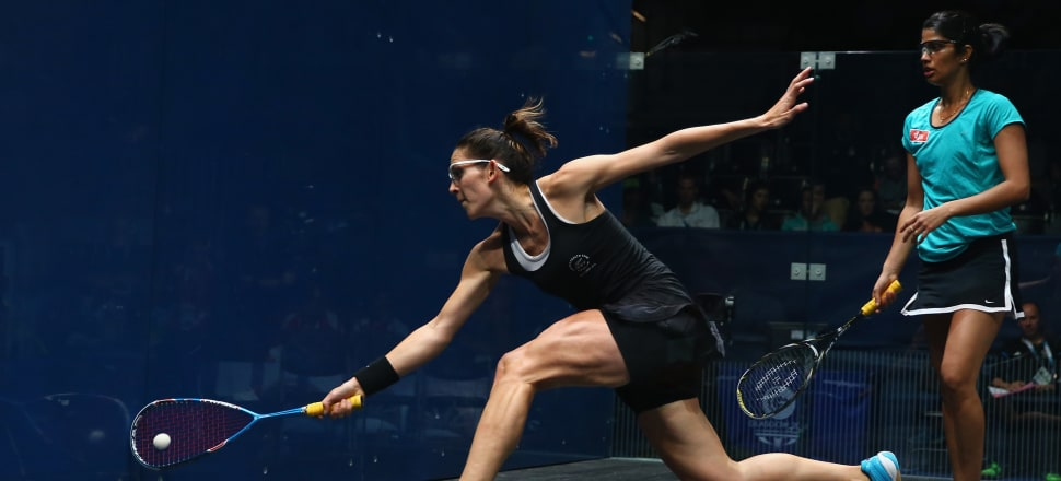 A balletic lunge - Kiwi No.1 Joelle King is discovering during her lockdown in Bristol that squash and ballet have a lot in common. Photo: Getty Images.