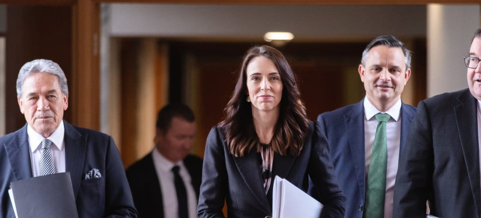Jacinda Ardern, Winston Peters, and James Shaw were all smiles on Budget Day - but with that last major show of unity out of the way, the coalition partners are starting to distinguish themselves to win over potential voters. Photo: Pool.