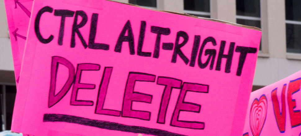 Can we eliminate online fascism like we eliminated Covid-19? Photo: Mark Dixon/Flickr