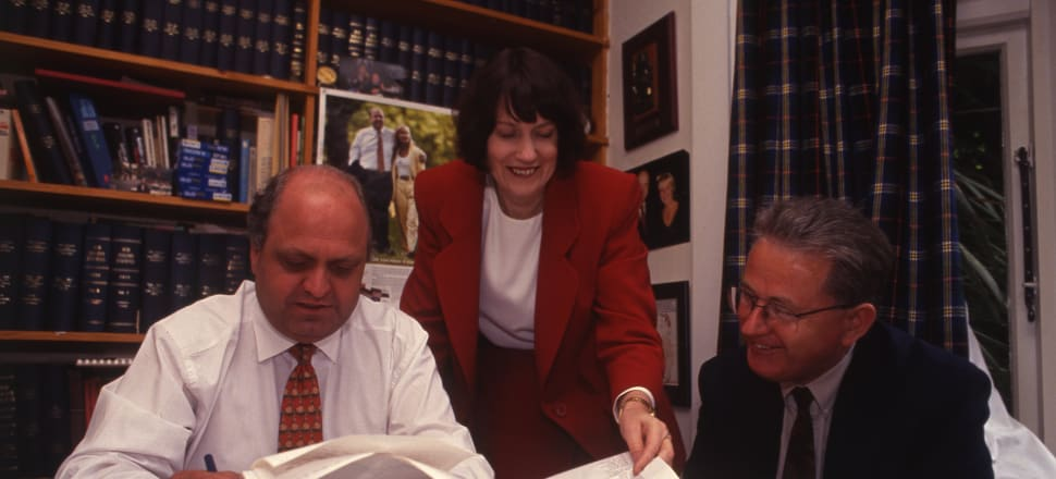 Mike Moore had Helen Clark as his deputy from 1990. They are pictured here with Michael Cullen immediately after  the 1993 election.  Photo: Stuff