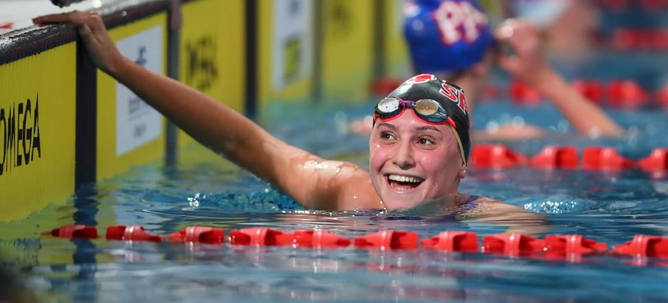 Eve Thomas was part of the 4 x 200m freestyle relay team who qualified NZ for the Tokyo Olympics, and has also swum under the Olympic qualifying time for the 1500m free. Photo: Simon Watts/BW Media.