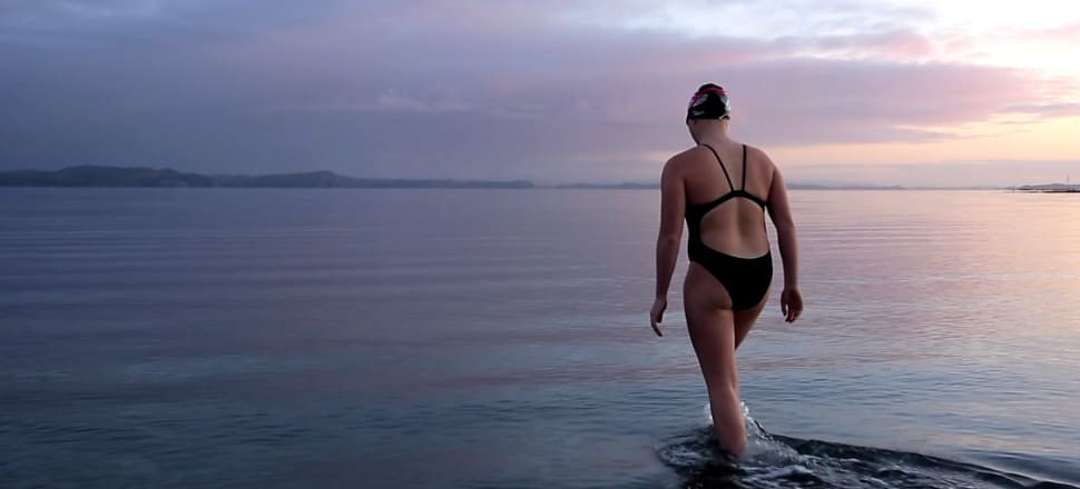 Sixteen-year-old Caitlin O'Reilly is preparing to become the youngest swimmer to complete New Zealand's triple crown of ocean swims - with the final leg, Foveaux Strait, next February. Photo: Gareth Cooke/SubZero Images
