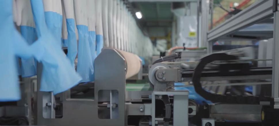 Top Glove has 41 factories in Malaysia and produces 61 billion gloves a year - about a quarter of the worldwide total. Photo: Topglove.com