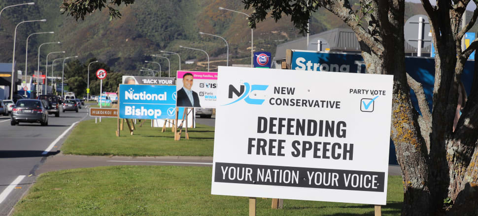 The New Conservatives' supporters have been quick to get their billboards up around the country. Photo: Lynn Grieveson.