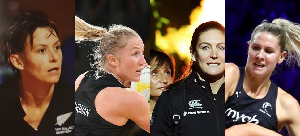 Which of these faces would grace the Mt Rushmore of NZ netball? From left: Sandra Edge? Laura Langman? Wai Taumaunu or Irene van Dyk? Casey Kopua? Photos: Getty Images.