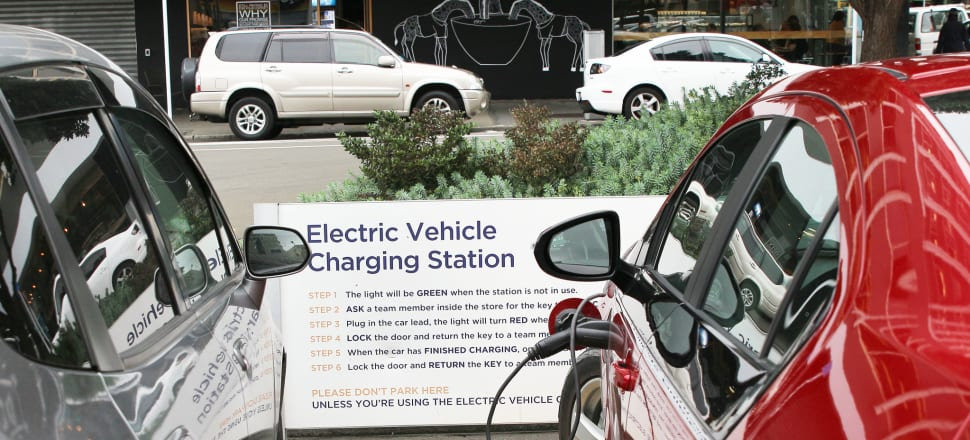 If National's policy works exactly as intended, tripling electric vehicle numbers and reducing the use of petrol vehicles, total covered emissions in 2023 will be 33 million tonnes: exactly the same as they would be without the electric vehicles, says Eric Crampton. Photo: Lynn Grieveson