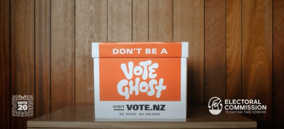 A screenshot from the Electoral Commission's 'Vote Ghost' campaign.