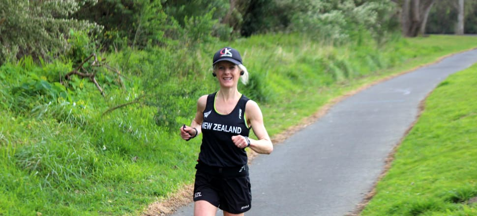 Police Superintendent Mel Aitken was the top Kiwi in the six-hour global solidarity race, run virtually around the world. Her 72.3km distance was an unofficial NZ record. Photo: supplied.