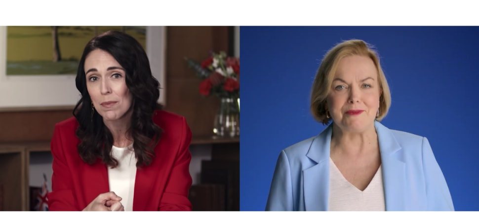 Election advertising started in earnest this week, with the two big parties launching television ads. Image: Facebook video frames